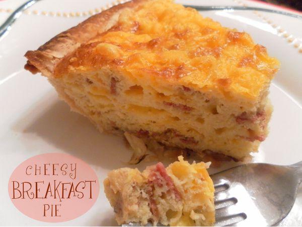 Cheesy Breakfast Pie - The Kreative Life