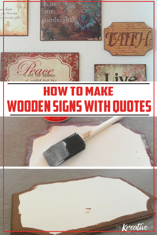 Learn how to make wooden signs with sayings by following this easy step-by-step for your next home crafts project.