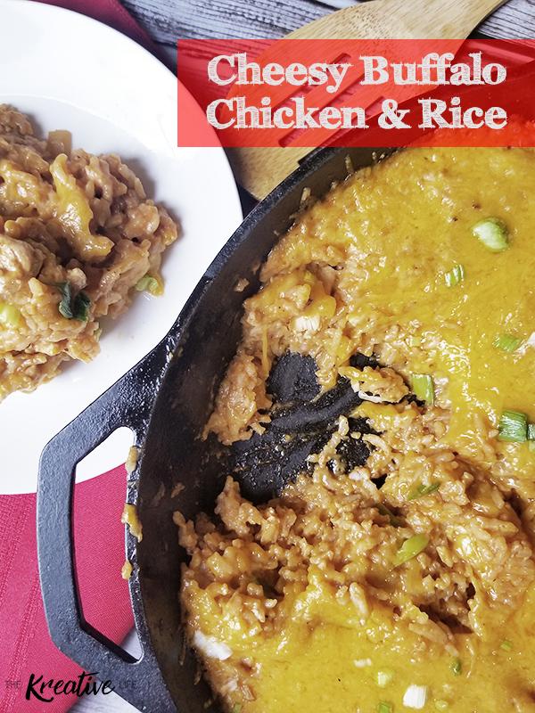 Cheesey Buffalo Chicken & Rice - The Kreative Life
