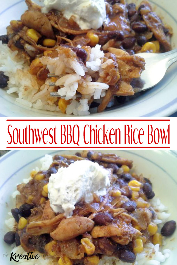 Southwest BBQ Chicken and Rice - The Kreative Life