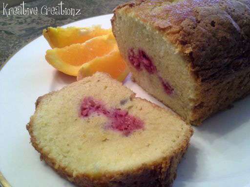Orange Raspberry Loaf Cake - The Kreative Life