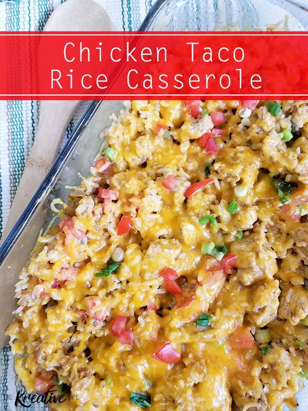 Chicken Taco Rice Casserole