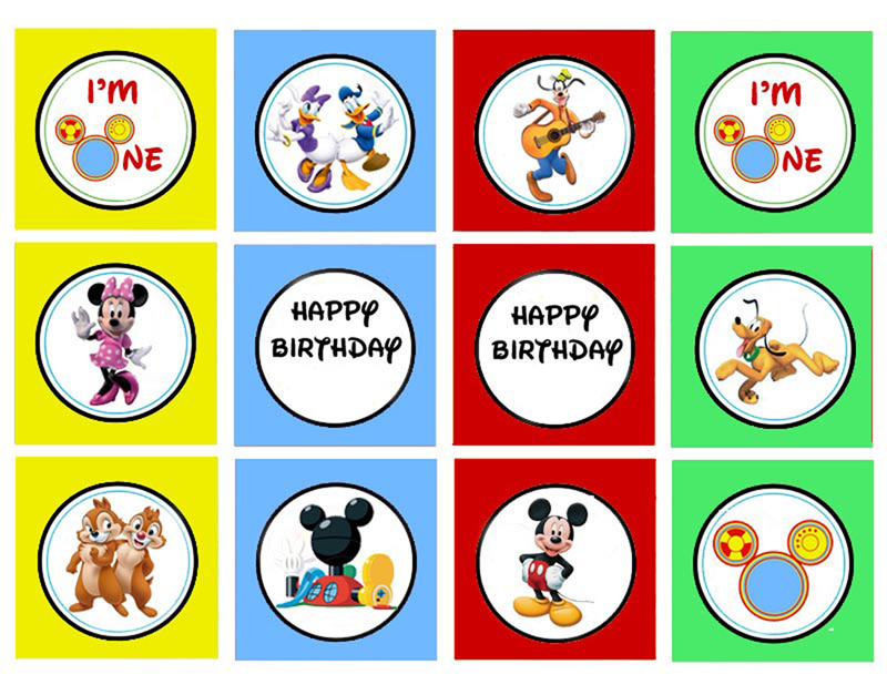First Birthday Party and Mickey Mouse Clubhouse Printables