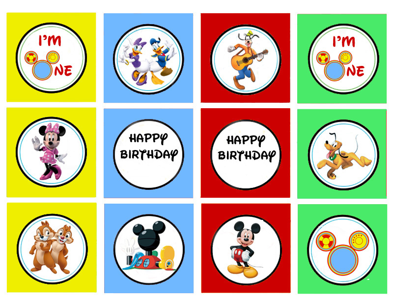 Mickey Mouse Clubhouse Cupcake Topper Printables - The Kreative Life