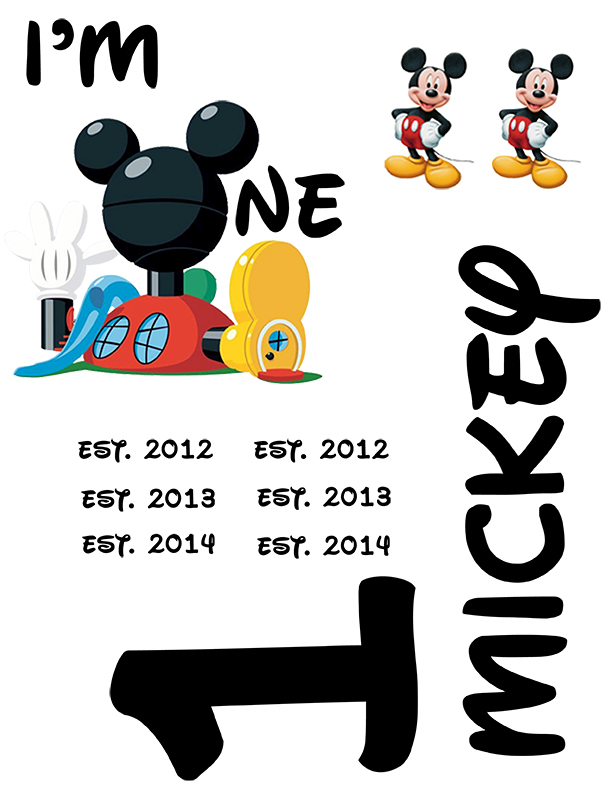 Mickey Mouse Clubhouse Birthdya Tshirt Printable - The Kreative Life