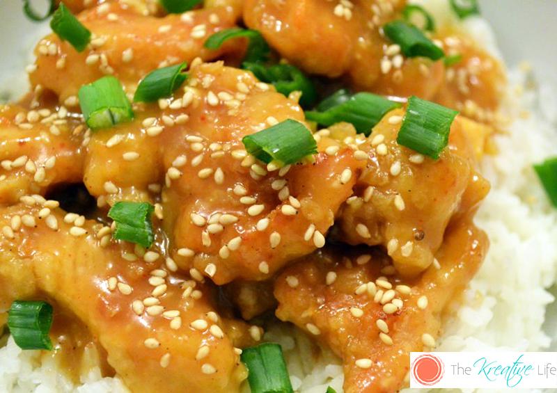 An Asian-inspired Sesame Orange Ginger Chicken dinner recipe that is full of flavor. - The Kreative Life