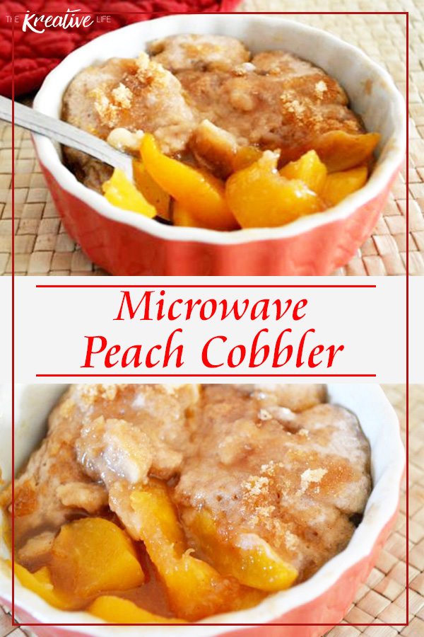This microwave peach cobbler recipe is easy to make in 3 minutes. You can share this peach cobbler or keep it all to yourself.