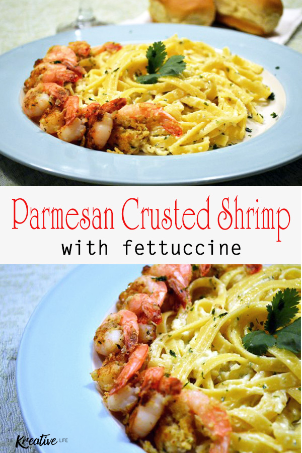 Shrimp with Fettuccine is the perfect seafood and pasta recipe to serve to your hungry family. - The Kreative Life