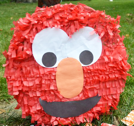 DIY Elmo Piñata - The Kreative Life