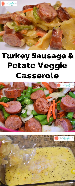 Turkey Sausage and Potato Veggie Casserole - The Kreative Life