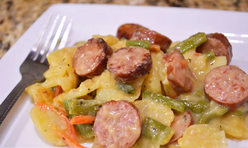 Turkey Sausage and Potato Casserole