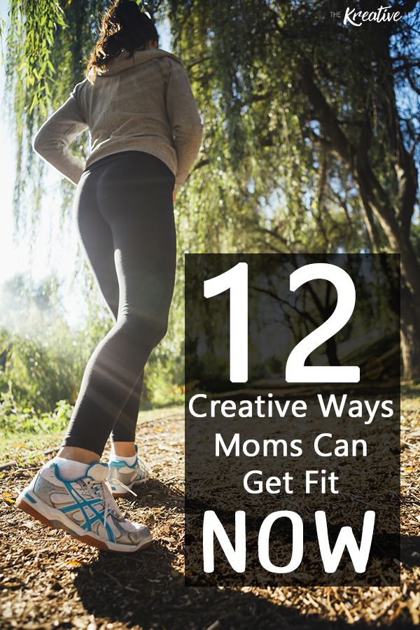 Here are 12 creative ways busy moms can get in shape with kids around. Sometimes it does consists of a full workout and sometimes it's just a few minutes, but with the combination of a proper diet and these exercises to do at home, you'll be on your way to getting into shape. - The Kreative Life