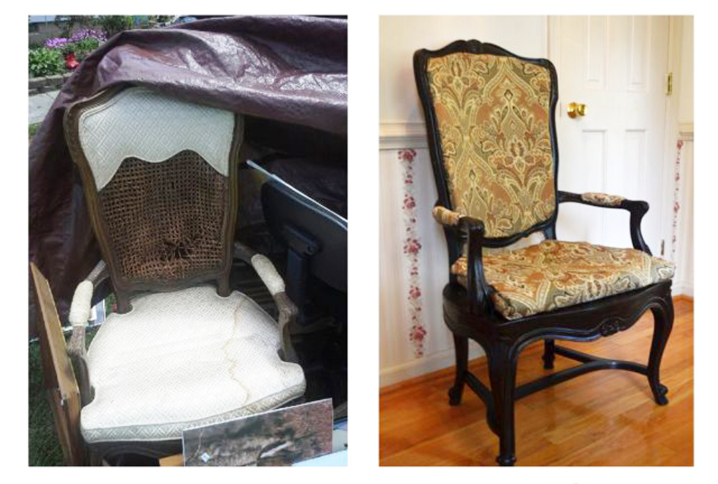 I'm a thrift shop shopper. I can find almost anything that I want or need  in a thrift store. Plus, the prices are very affordable and I can be  kreative when ... - Garage Sale Find: Reupholstered Antique Chair - The Kreative Life