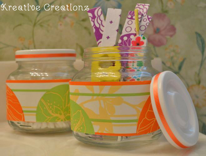 Stylish DIY Beauty Storage Jars or Makeup Organizers The Kreative Life
