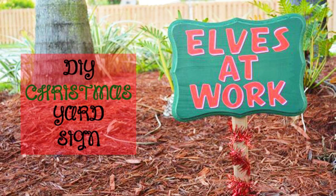 Diy christmas yard sign the kreative life for Homemade christmas yard signs