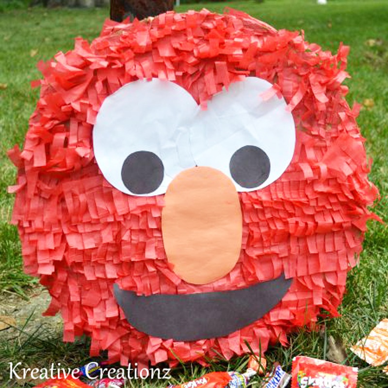 DIY Elmo Piñata