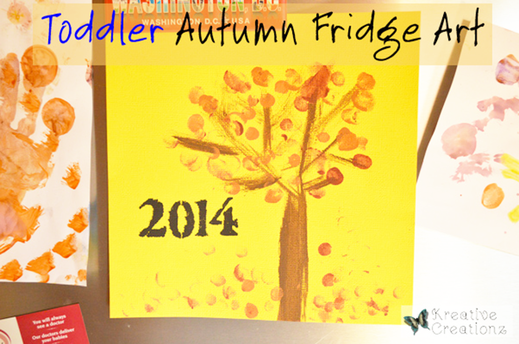 Toddler Autumn Finger Paint Art