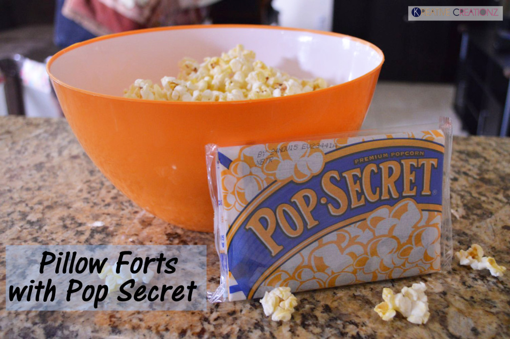 Pillow Forts with Pop Secret