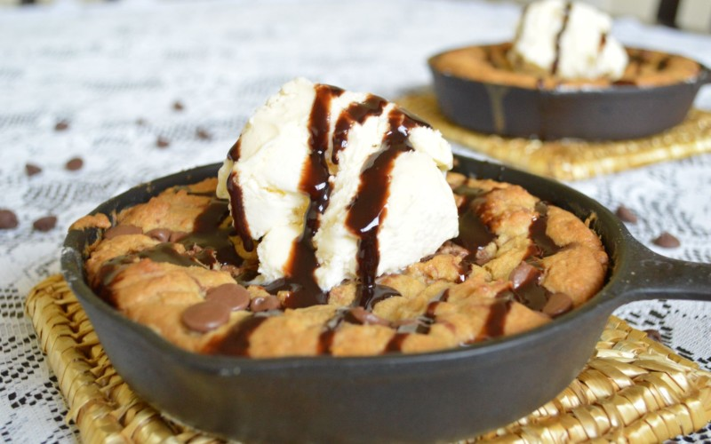 Guilty-Pleasure Iron Skillet Chocolate Chip Cookie