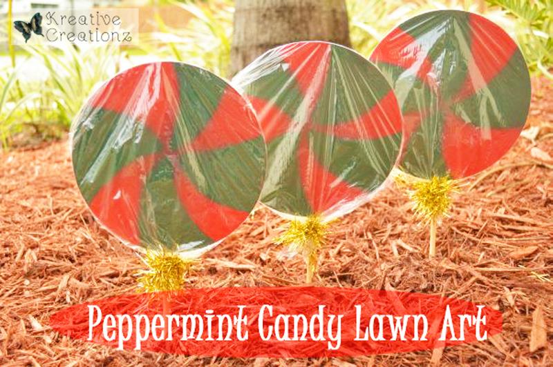 Peppermint Candy Lawn Art