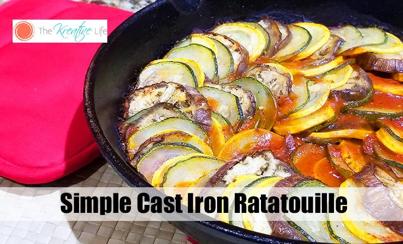 Cast Iron Ratatouille - The Kreative Life