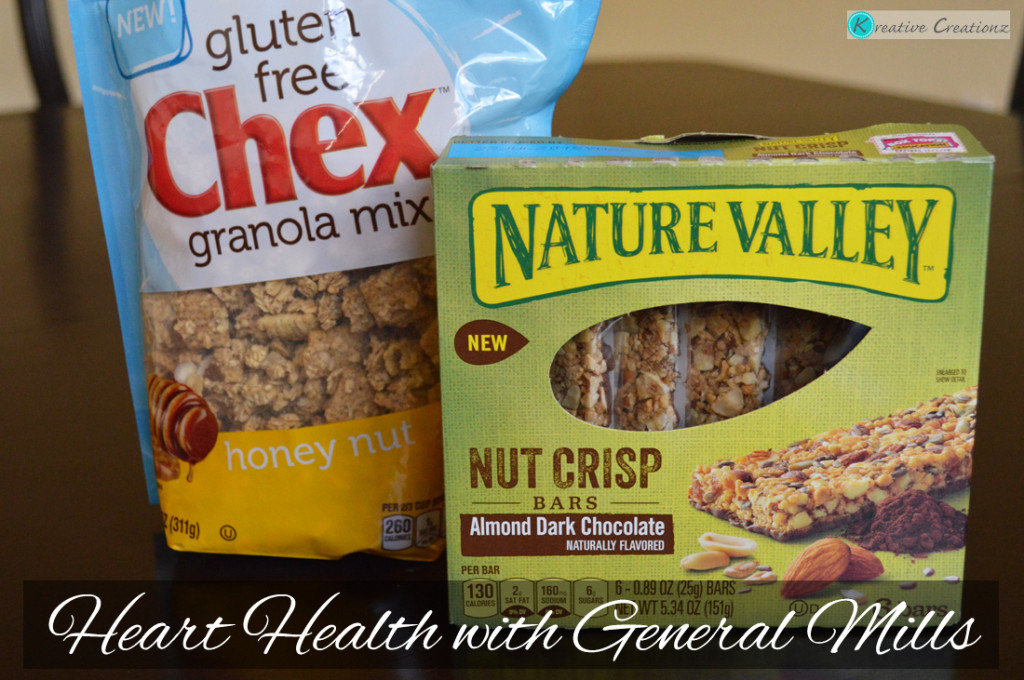 Gluten Free Chex™ Granola Mix and Nature Valley® Nut Crisp Bars Heart Healthy