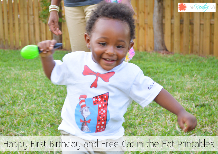 Free Cat in the Hat Birthday Printables