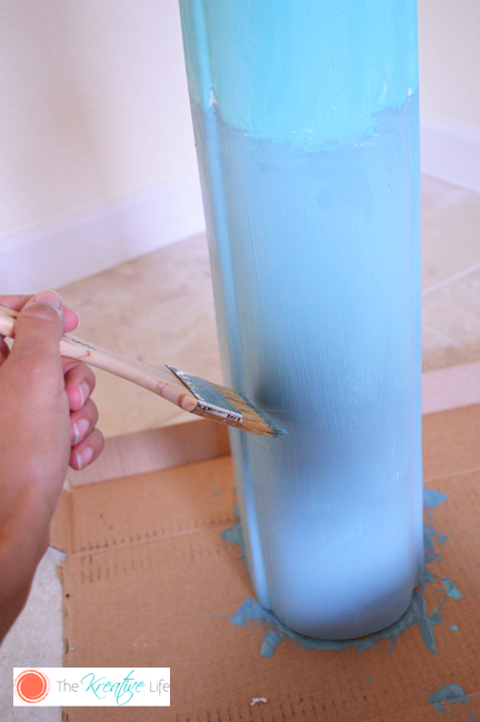 DIY Repurposed Sink into Ombre Vase