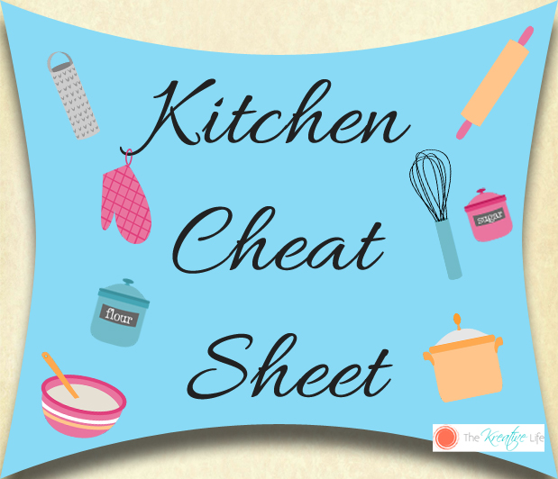 Kitchen Cheat Sheet Printable