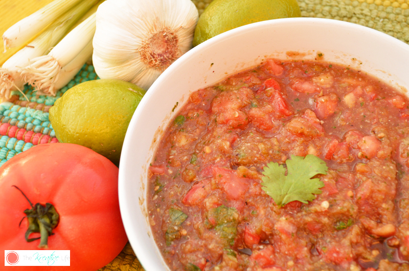 Farmers Market Grilled Garlic Spicy Salsa