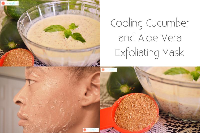 Cucumber and Aloe Vera Exfoliating Face Mask