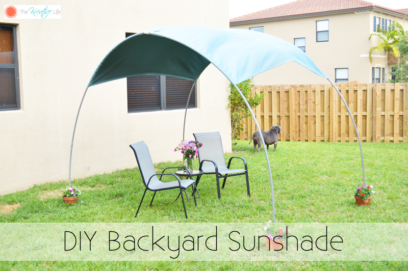 A Simple Backyard Canopy That Can Be Made In Under 1 Hour And With Only A