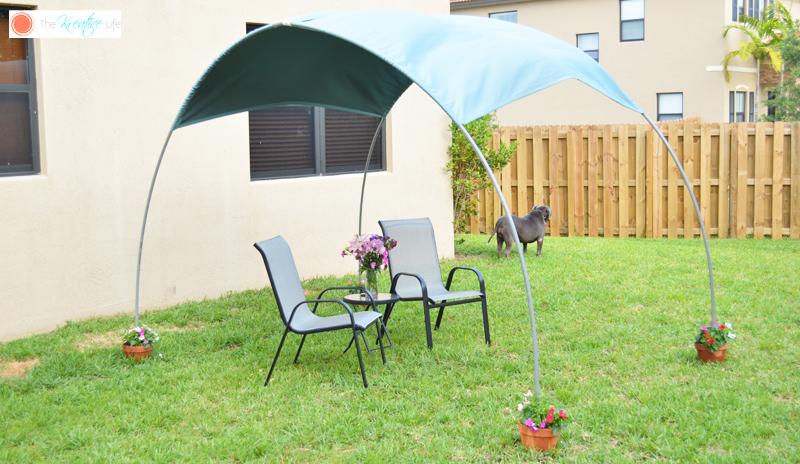 DIY Backyard Sunshade - The Kreative Life