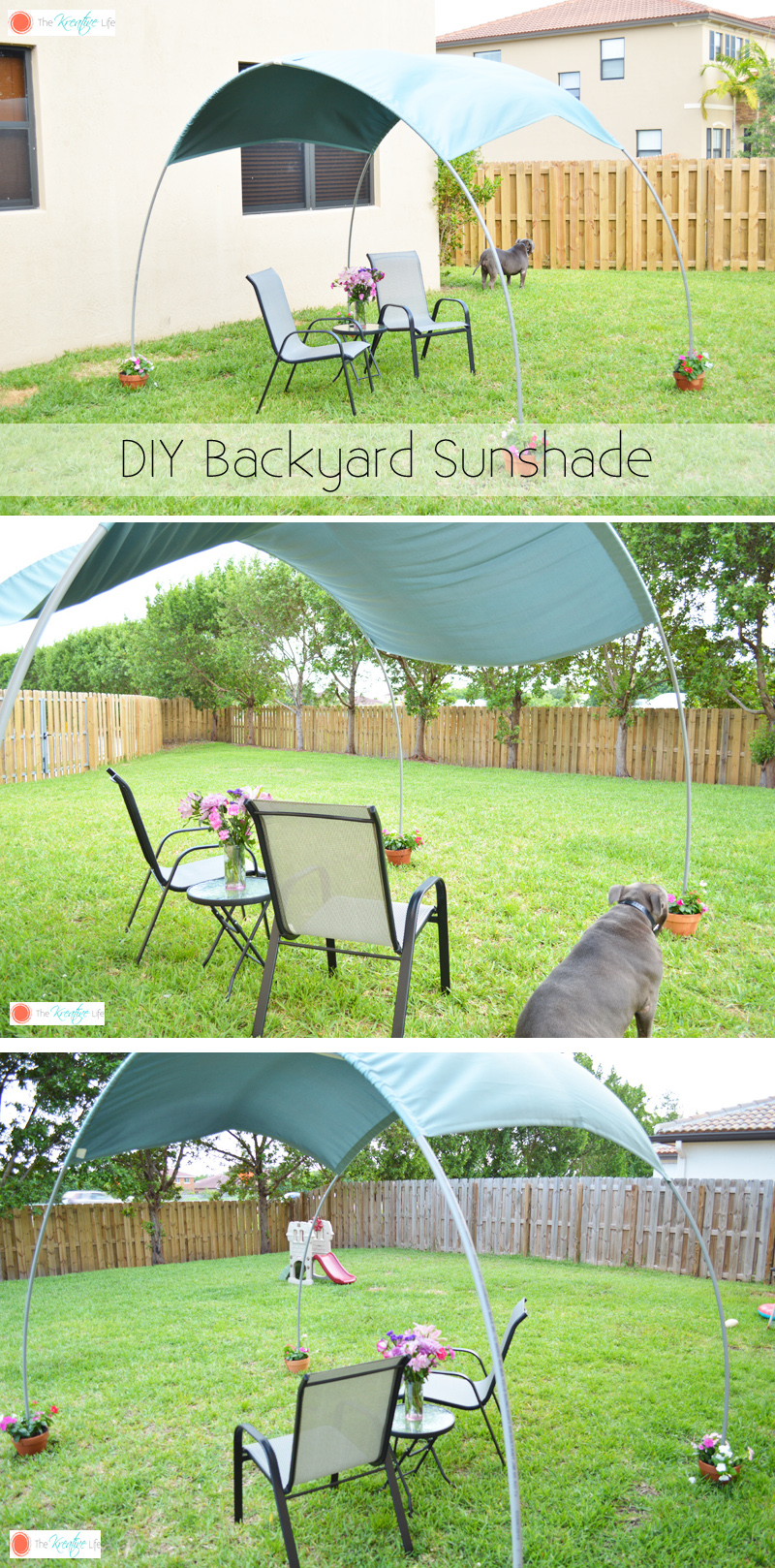 diy backyard sunshade the kreative life