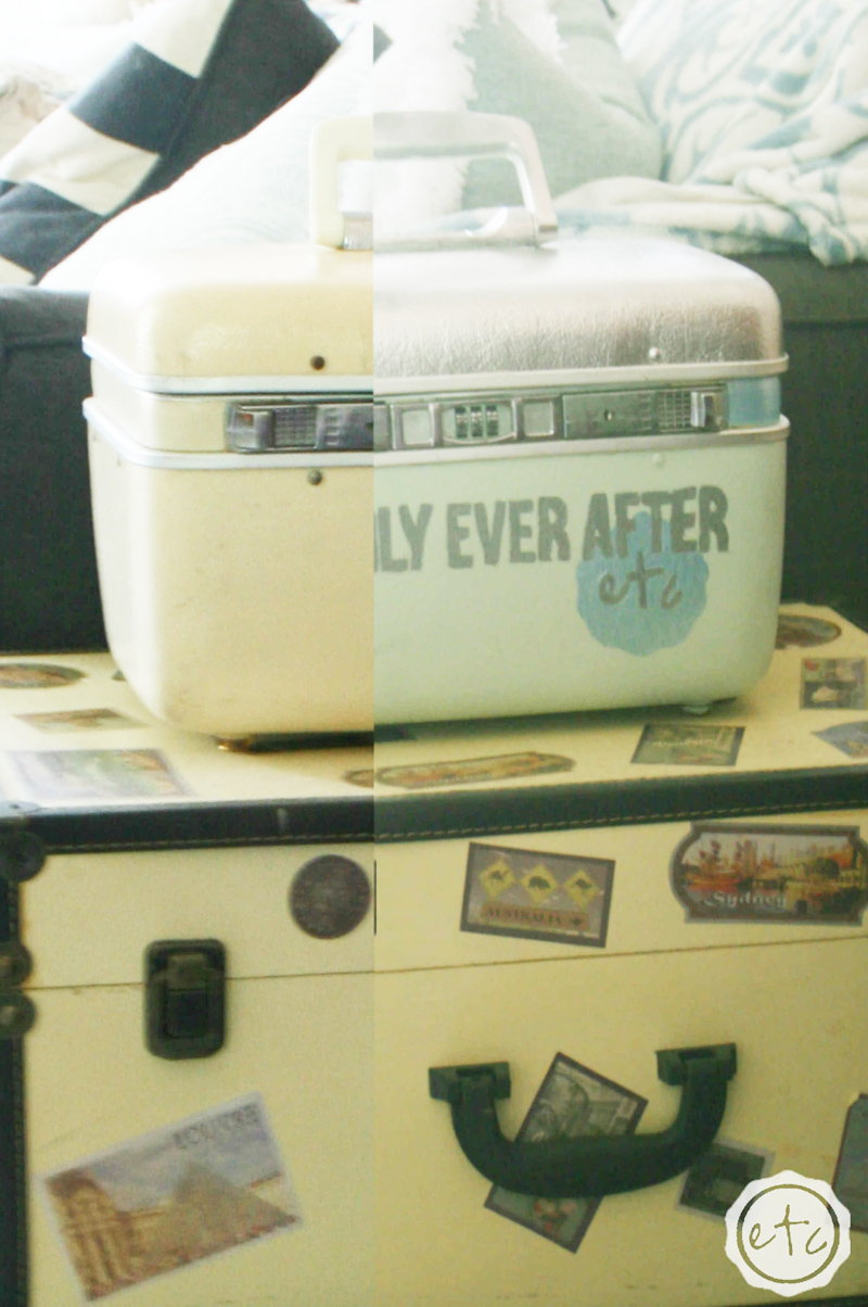 Vintage Suitcase Makeover - The Kreative Life