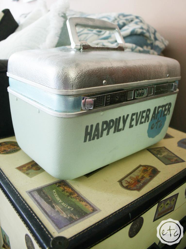 Vintage Suitcase Makeover