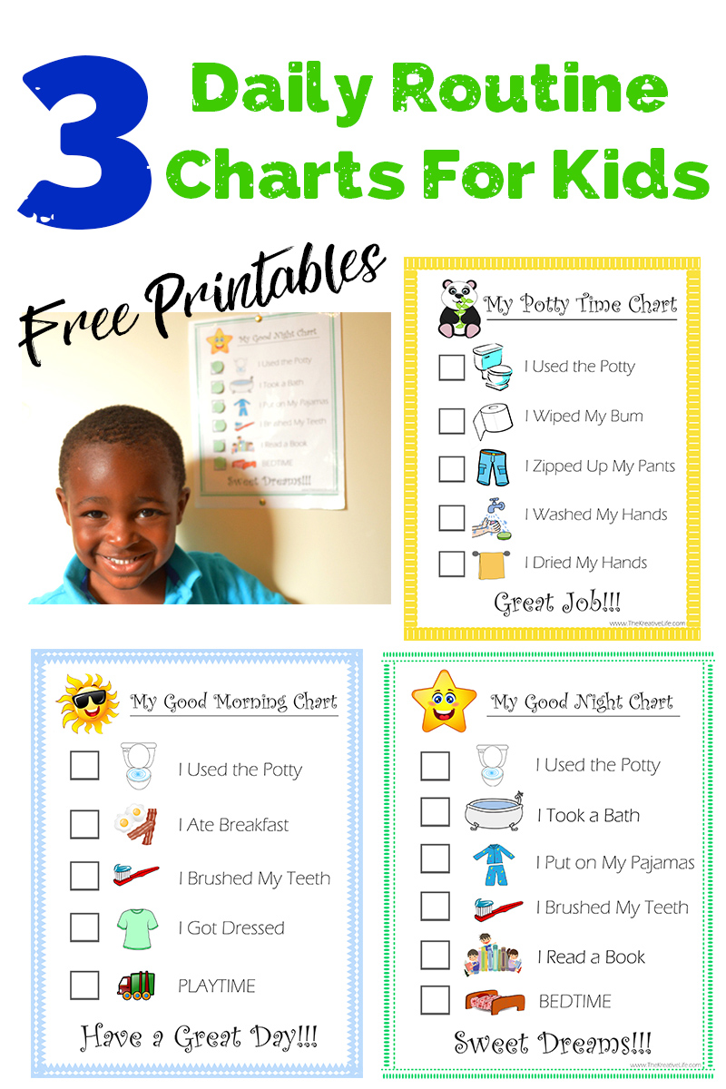 Child Routine Chart Printables - The Kreative Life