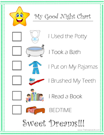 Child Routine Charts Printables