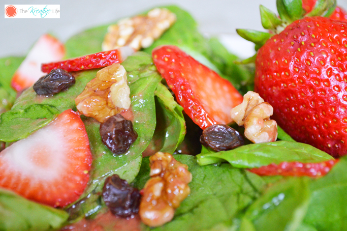 Fresh Summer Salad with Sweet Strawberry Vinaigrette