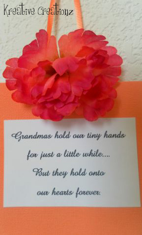 If you're looking for a great way for grandparents, parents, and grandchildren to spend time together while making a fun craft, check out this holding hands family craft. This painting craft is super cute and can be kept as a keepsake. - The Kreative Life