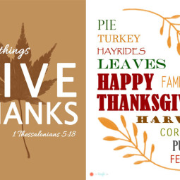 Free Thanksgiving Printables - The Kreative Life