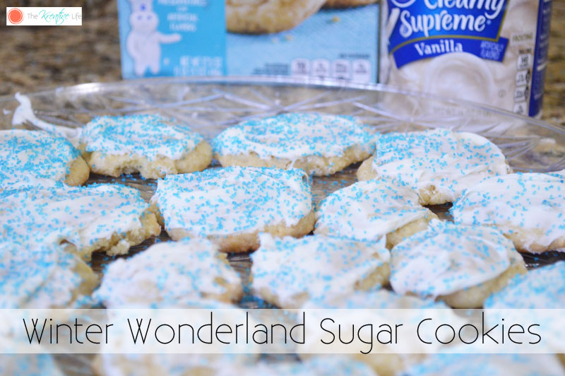Winter Wonderland Sugar Cookies - The Kreative Life