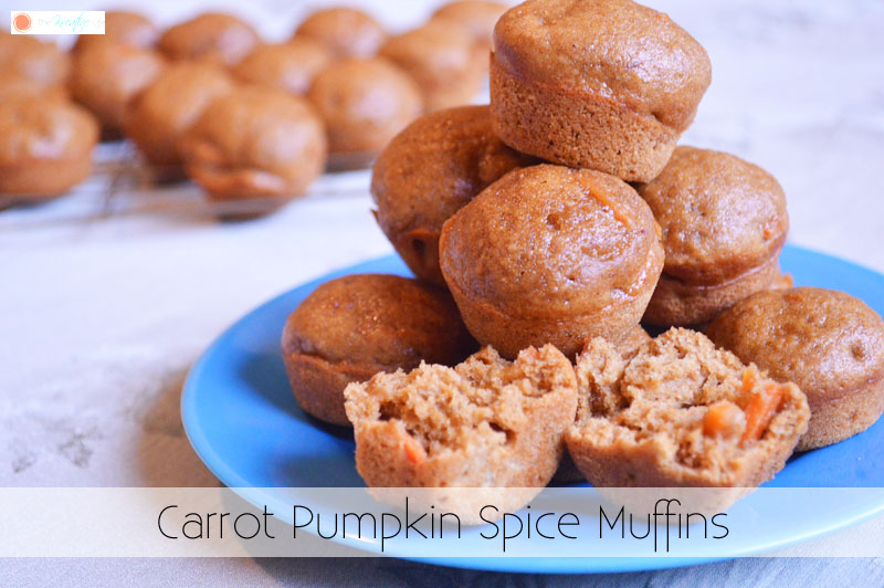 Carrot Pumpkin Spice Muffins - The Kreative Life