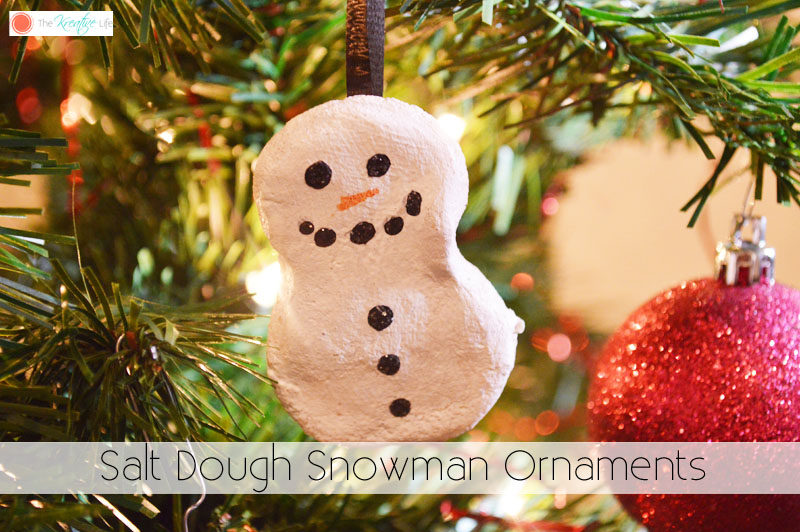 Salt Dough Snowman Ornaments - The Kreative Life