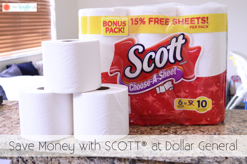 Save Money with SCOTT® at Dollar General - The Kreative Life