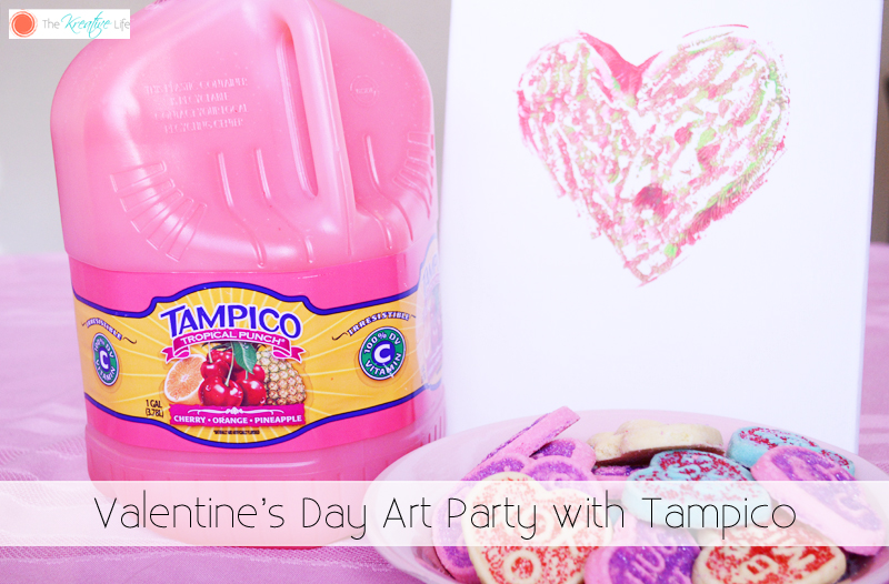 Valentine's Day Art Party with Tampico - The Kreative LIfe