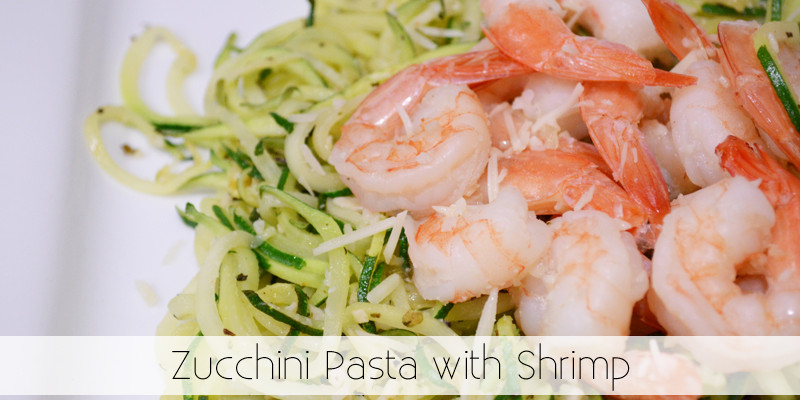 Zucchini Pasta with Shrimp - The Kreative Life