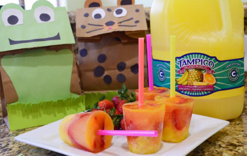 DIY Lunch Sacks and Tampico Freeze Pop Fun