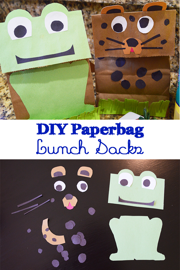 An easy diy kids lunch sack that any kid will enjoy making. Carrying a homemade paperbag lunch sack to school will make your kid really enjoy this craft! - The Kreative Life