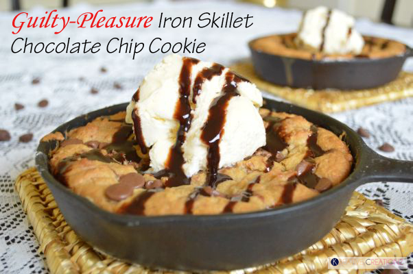 Iron Skillet Chocolate Chip Cookie - The Kreative Life